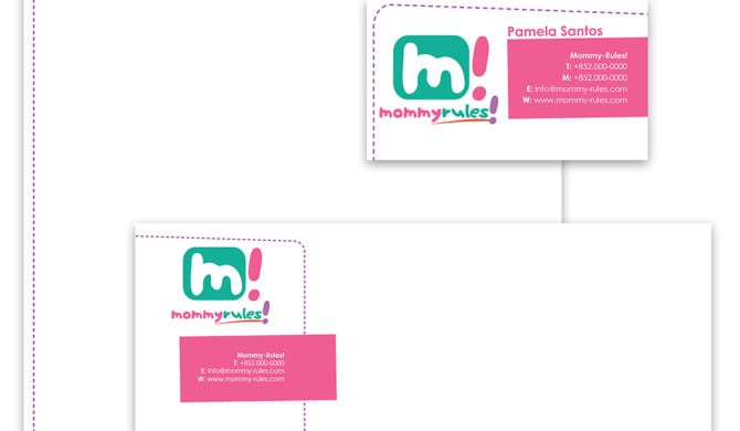 Mommy Rules Branding - Logo, Letterhead, Envelope