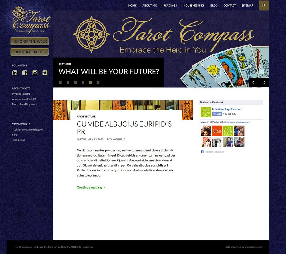 Website Design and Development for Tarot Compass